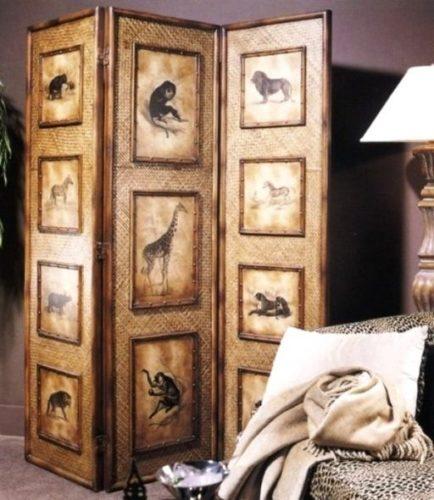 3-х створчатая деревянная ширма