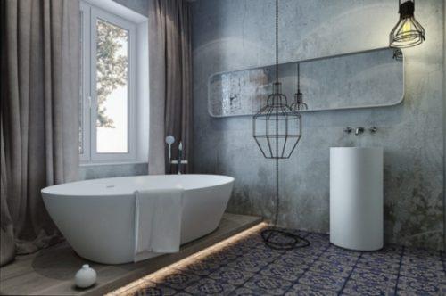 белое окно в ванной