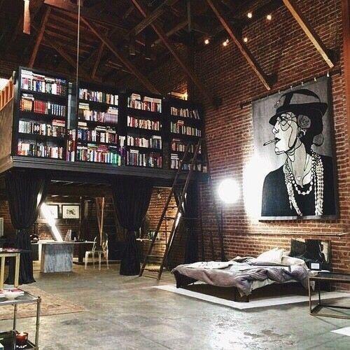 библиотека в лофте