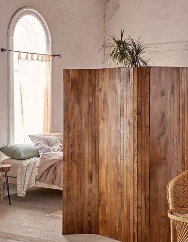деревянная ширма из реек