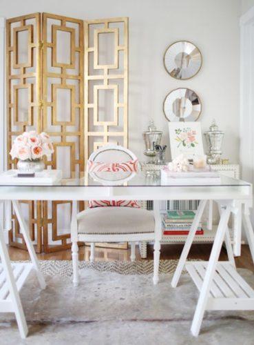 деревянная ширма в дизайне интерьера