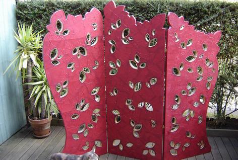 розовая картонная ширма