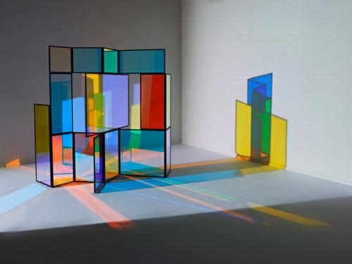 ширма из цветного стекла