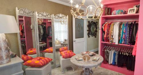 зеркальная ширма в гардеробной