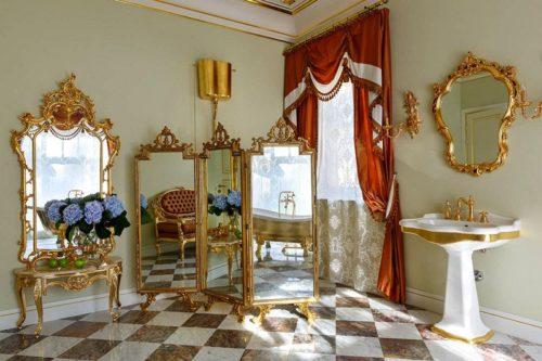 зеркальная ширма в ванной