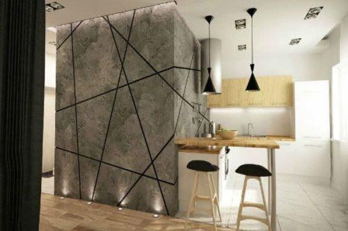 перегородка-стена бетонная в стиле лофт