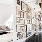 стена из гипрока с картинами