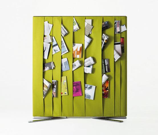 зеленая ширма для журналов