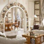 декоративная арка из гипсокартона фото
