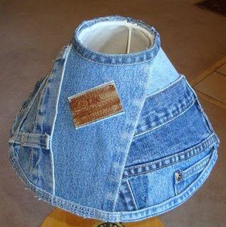 абажур из джинс фото