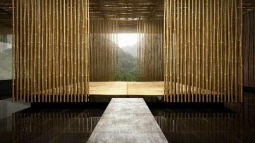 бамбуковая занавесь в интерьере