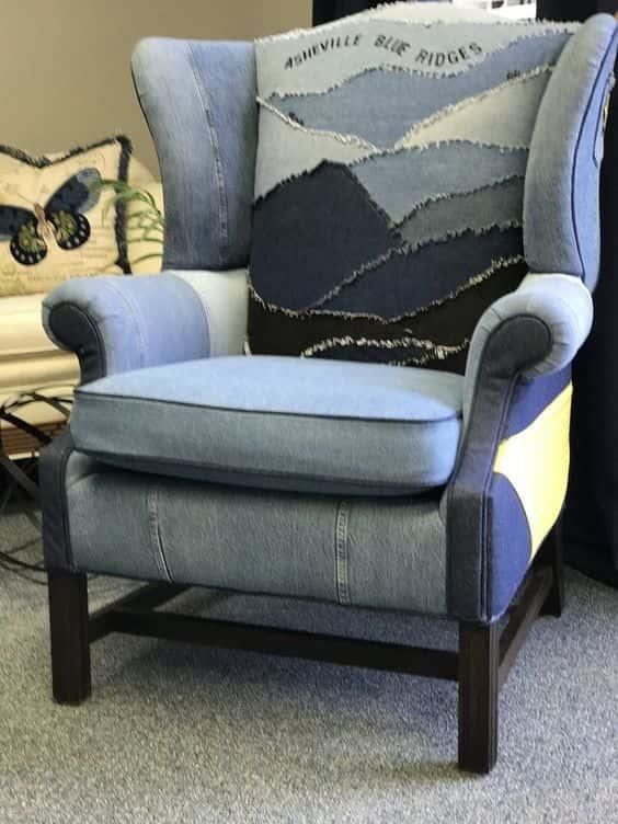 деним-кресло