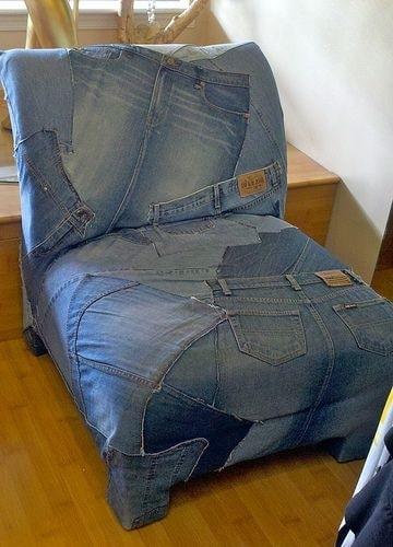 джинсовая мебель в интерьере фото