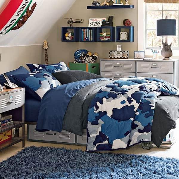 джинсовая спальня