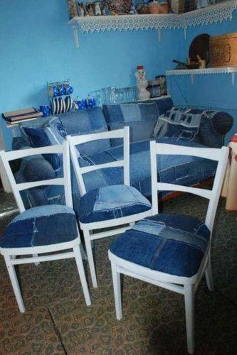 джинсовые стулья фото