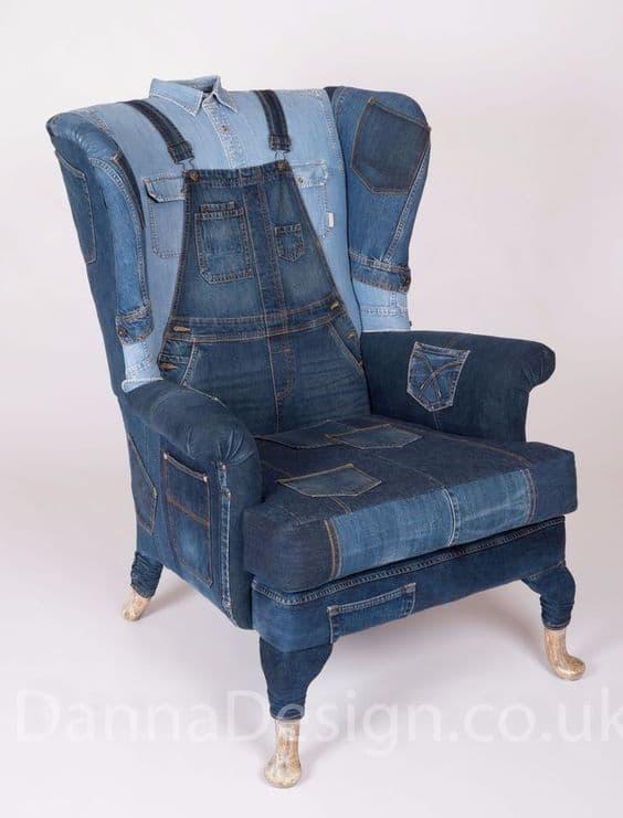 интересное кресло из джинсы