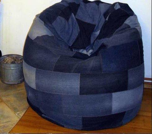 кресло-мешок из джинс