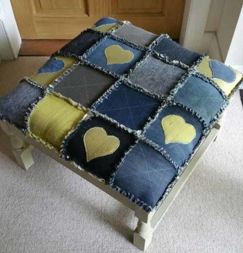 оригинальная мебель из джинс