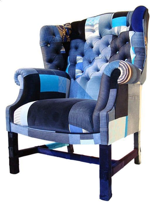 пэчворк-кресло из джинс