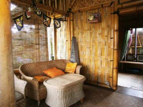 плетеная бамбуковая перегородка