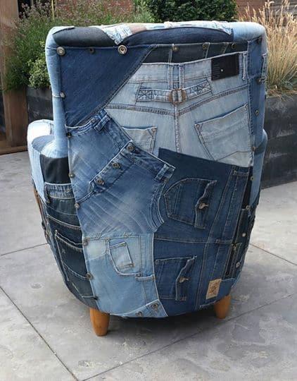 спинка джинсового кресла