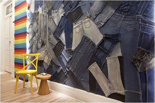 стена из джинс