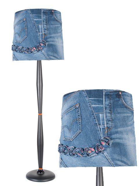 торшер из джинс