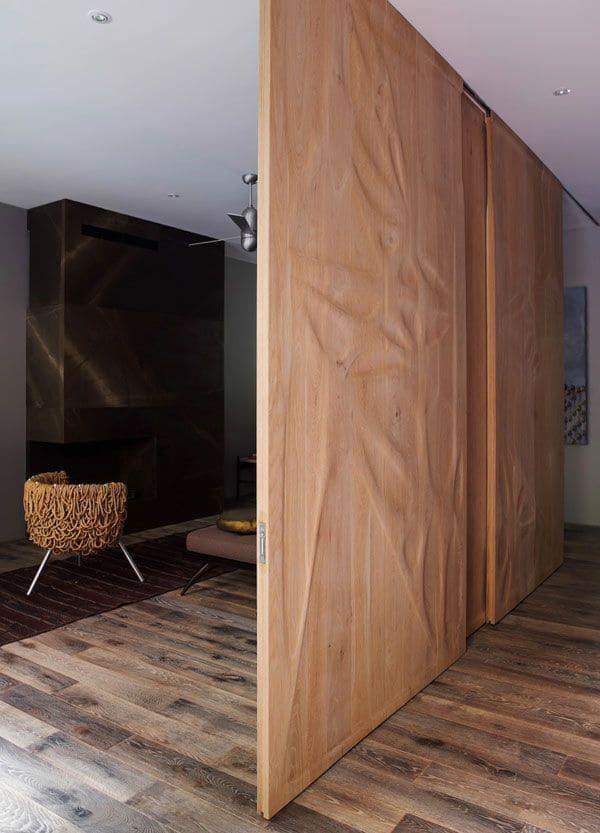 деревянные перегородки-купе для зонирования