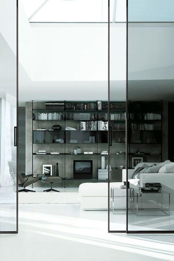 перегородки из стекла раздвижные в интерьере